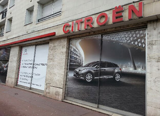 vitrine citreon