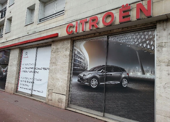 covering facade citreon