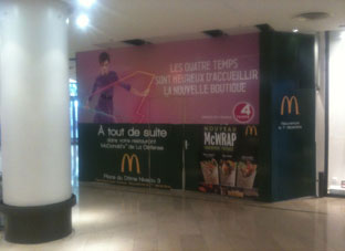 habillage adhesif Palissage travaux Mcdonalds
